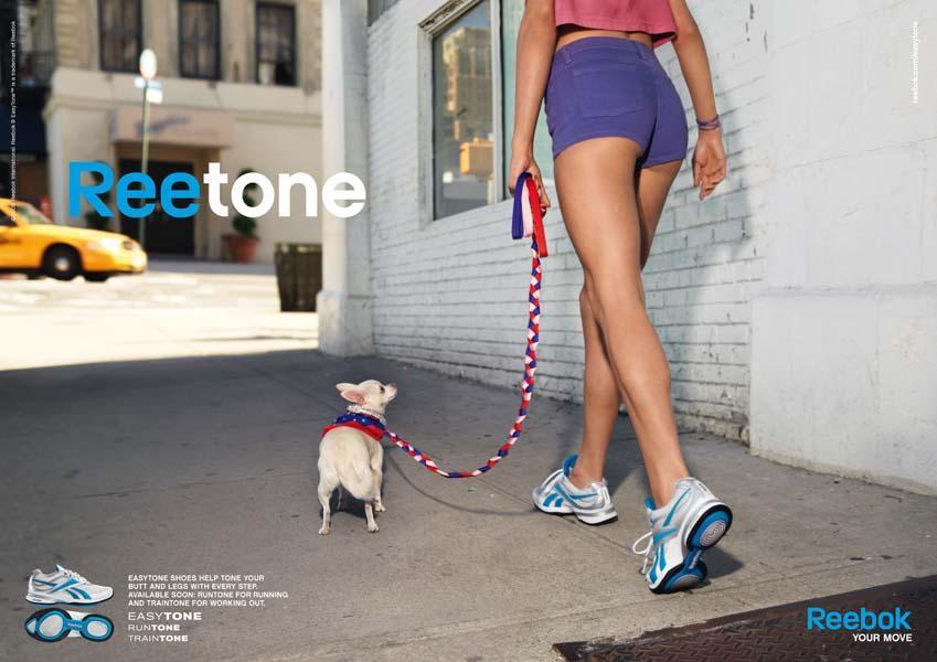 Reebok Print Ad -  Dog blue