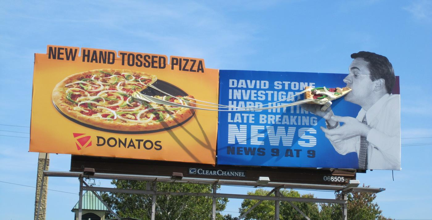 Donatos Outdoor Ad -  Newscaster