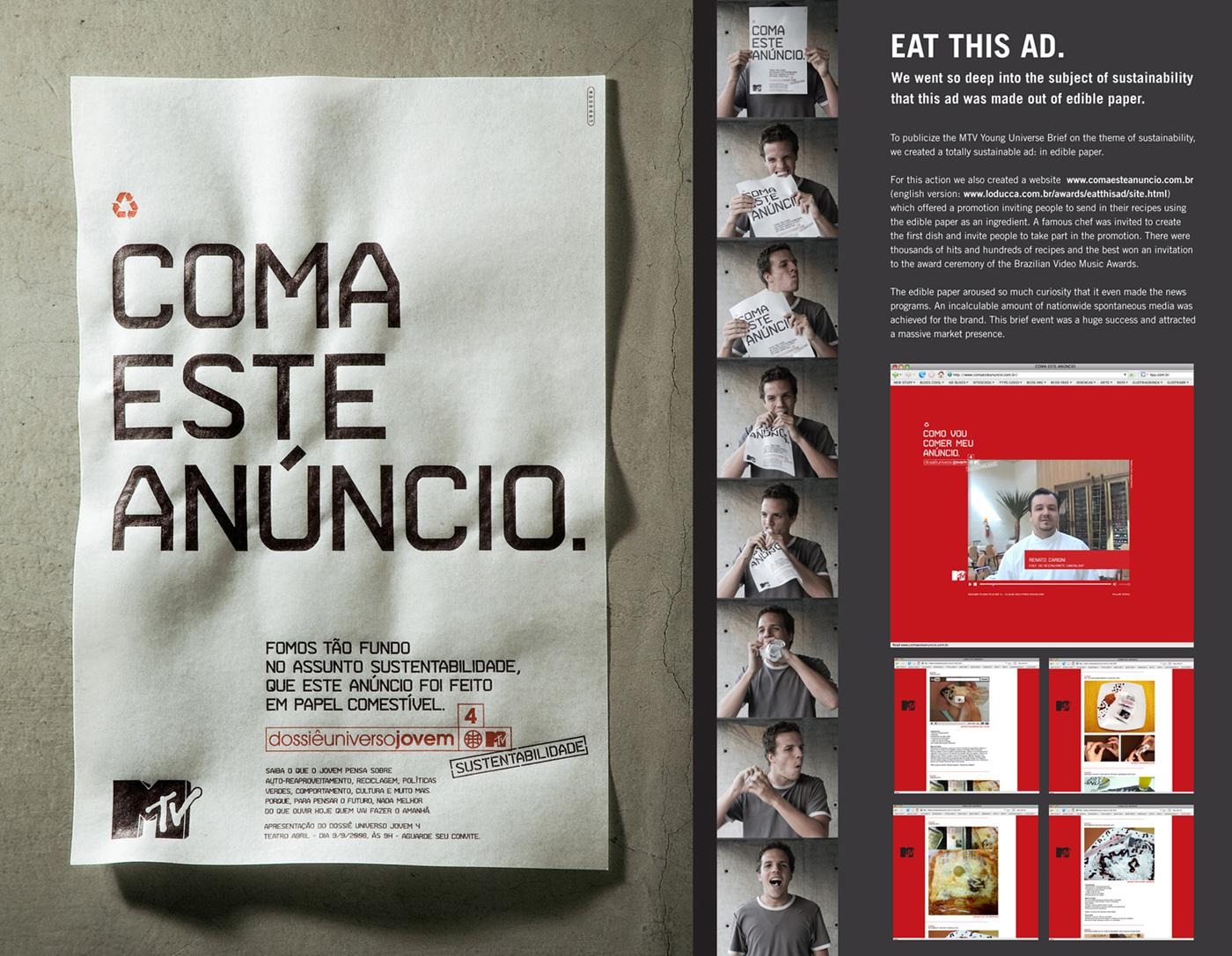 MTV Ambient Ad -  Eat this ad