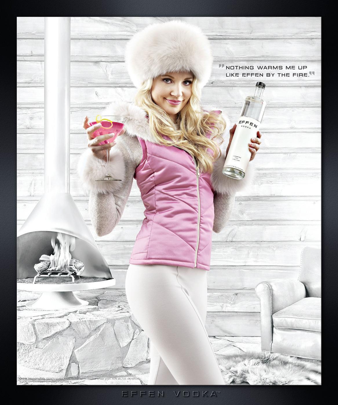 Effen Vodka Print Ad -  Ski Bunny