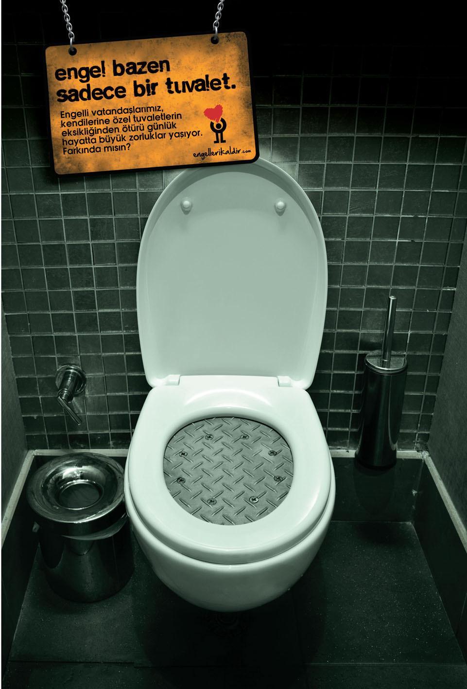 Engelleri Kaldir Print Ad -  Toilet