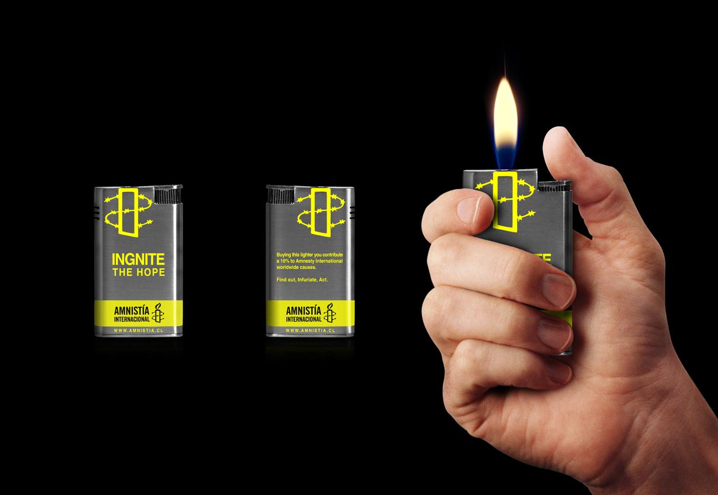 Amnesty International Ambient Ad -  Lighter