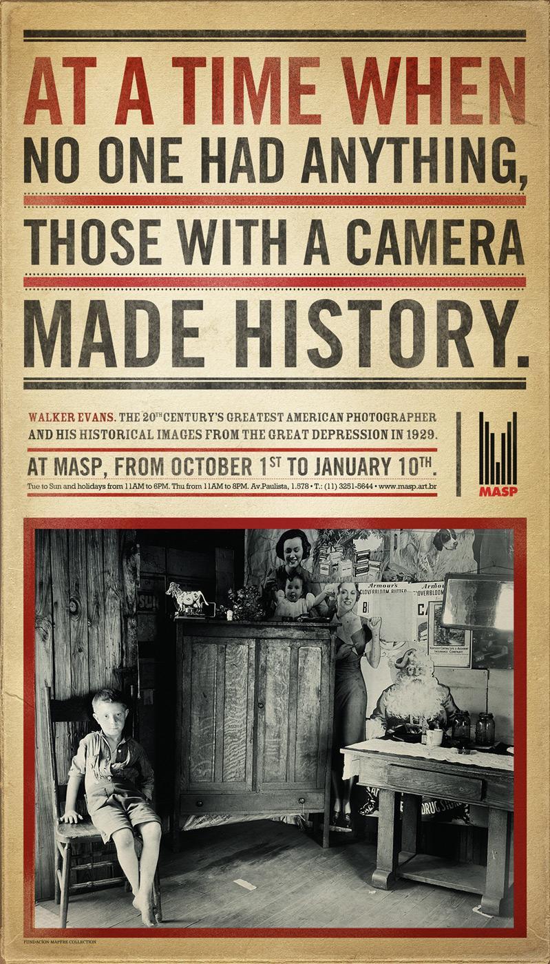 MASP Print Ad -  Walker Evans, Camera
