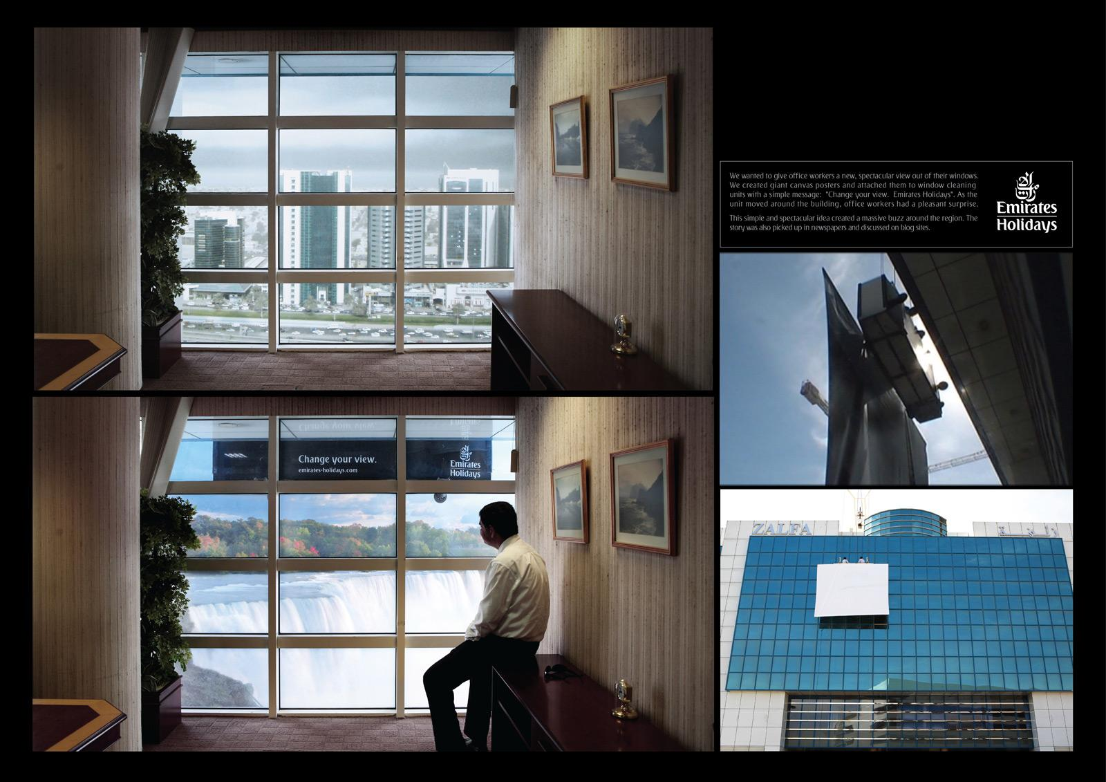 Emirates Ambient Ad -  Window Cleaner