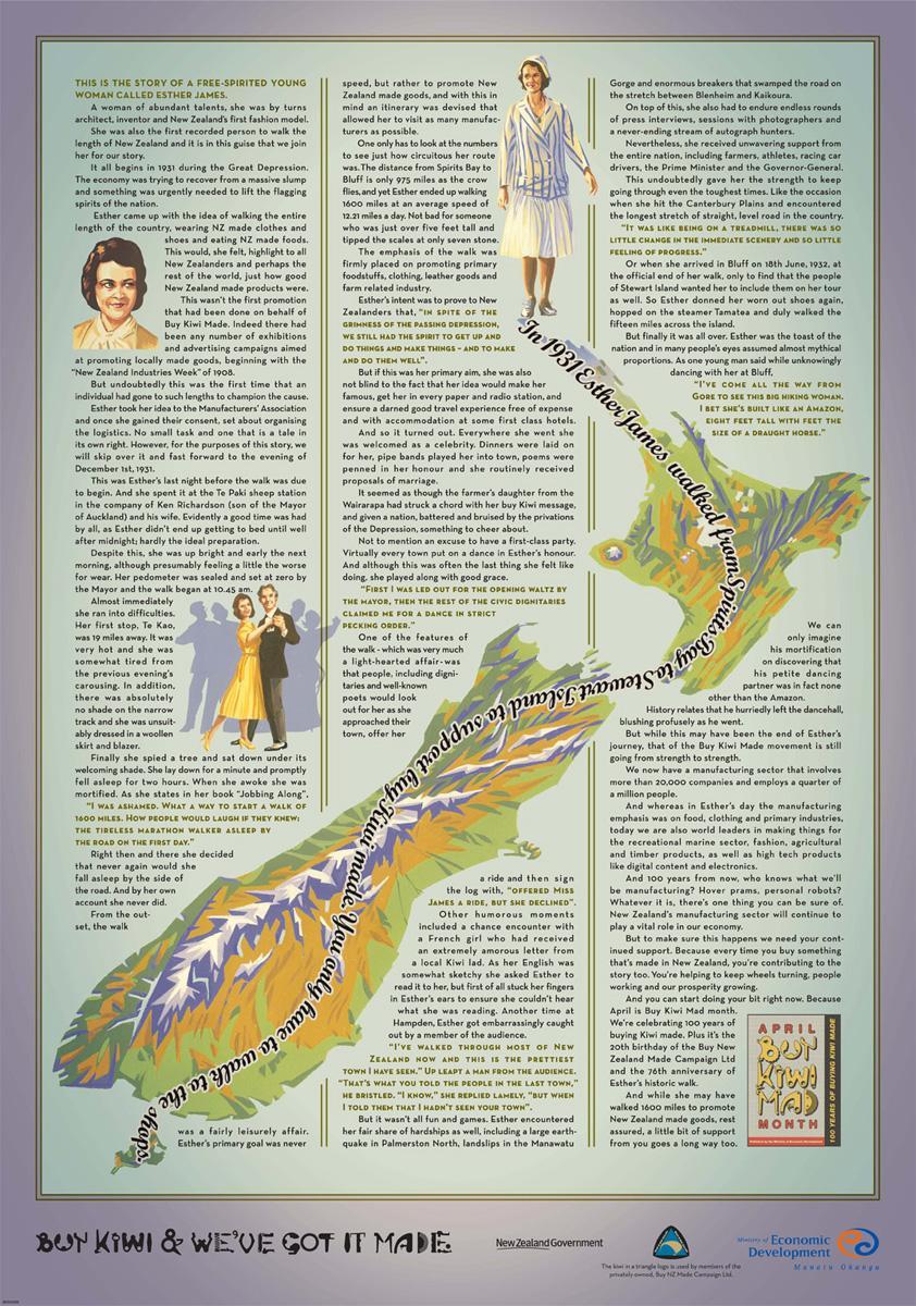 Buy Kiwi Made Print Ad -  Esther James