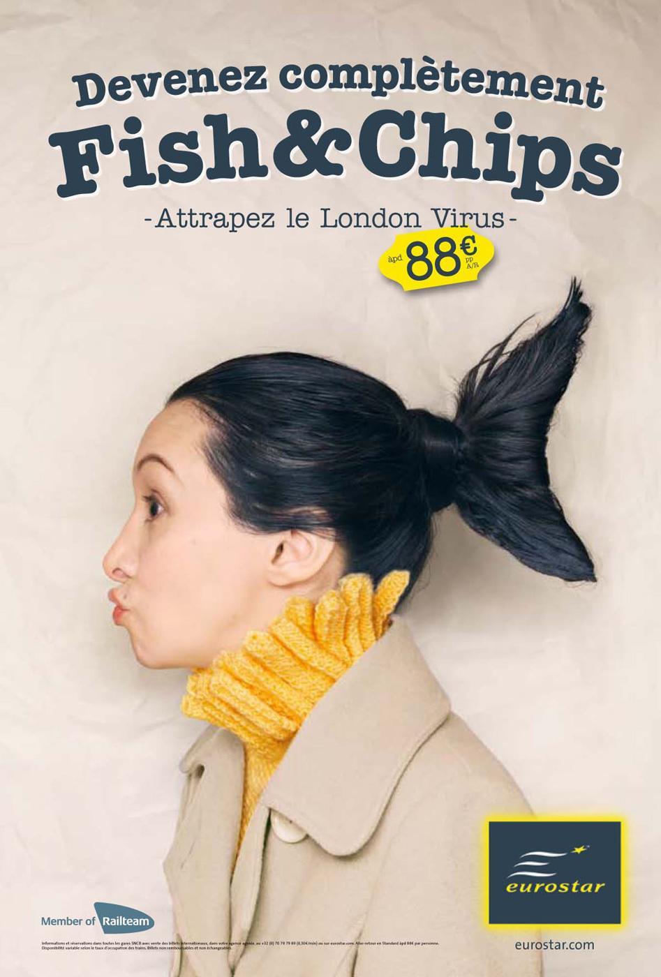 Eurostar Print Ad -  Fish & Chips