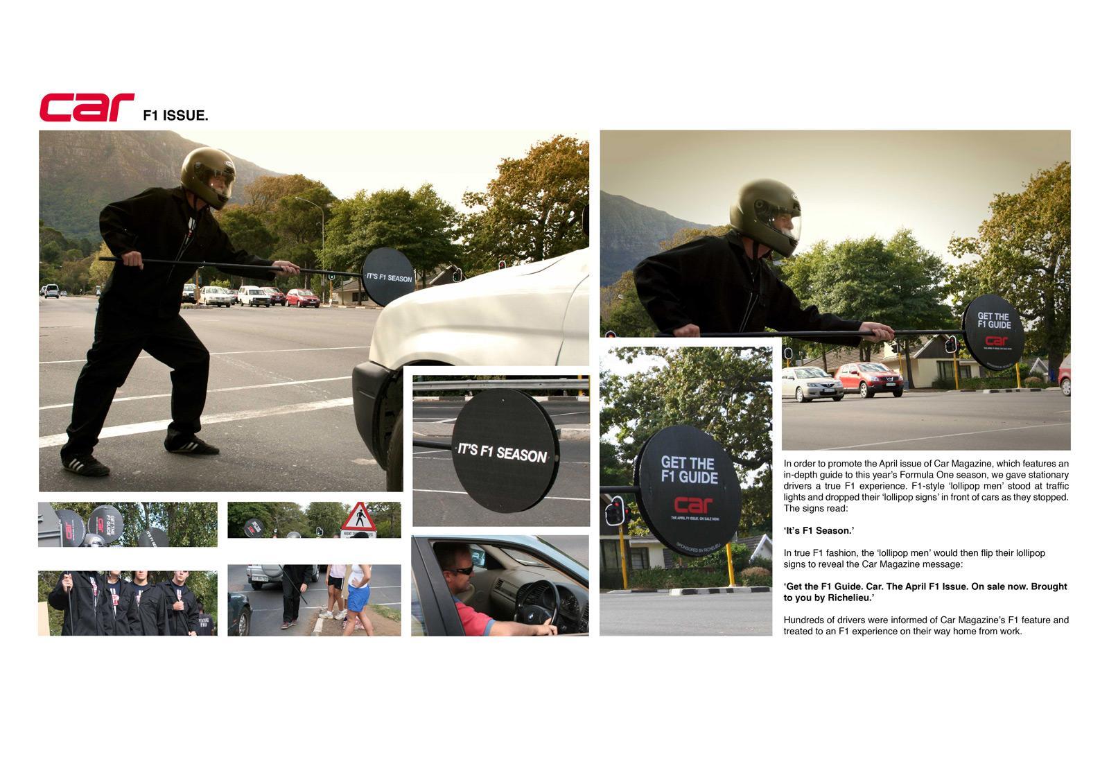CAR Magazine Ambient Ad -  F1