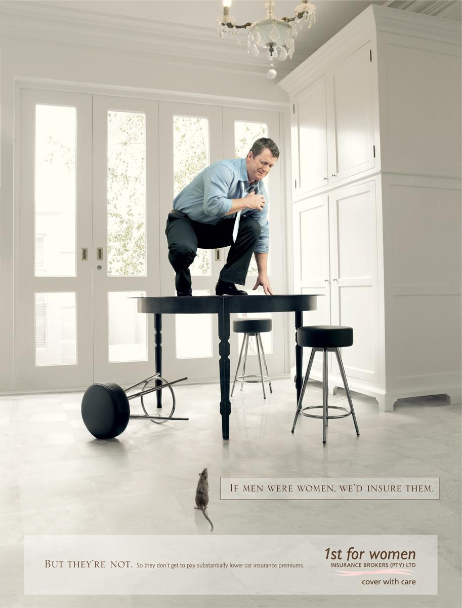 1st for Women Insurance Brokers Print Ad -  Mouse