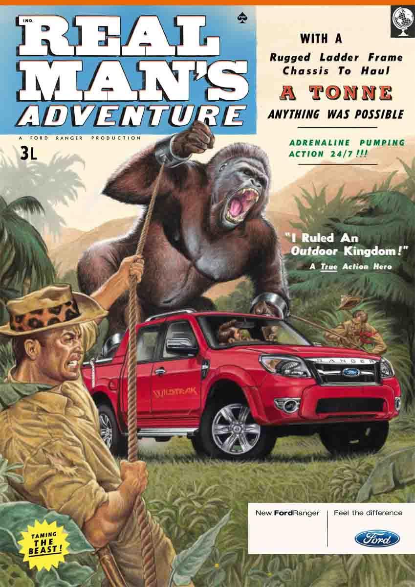 Ford Print Ad -  Gorilla