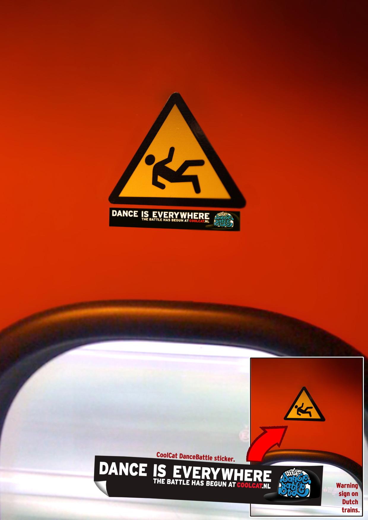 CoolCat Ambient Ad -  Train Stickers