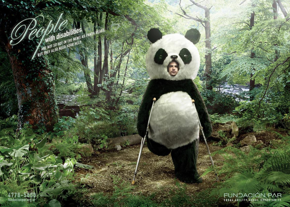 Fundación Par Print Ad -  Panda Bear