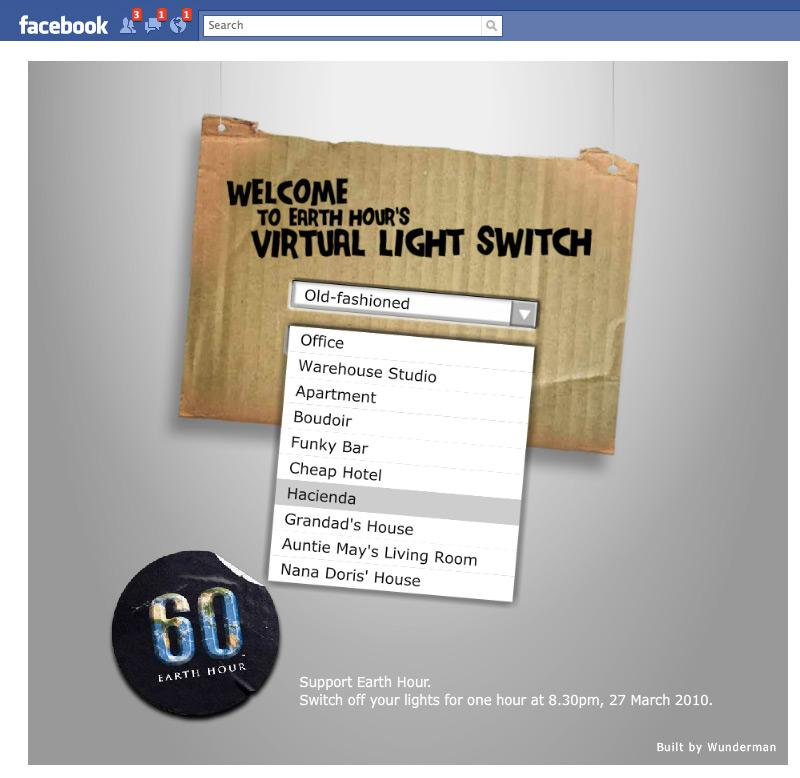 Earth Hour Digital Ad -  Virtual Light Switch