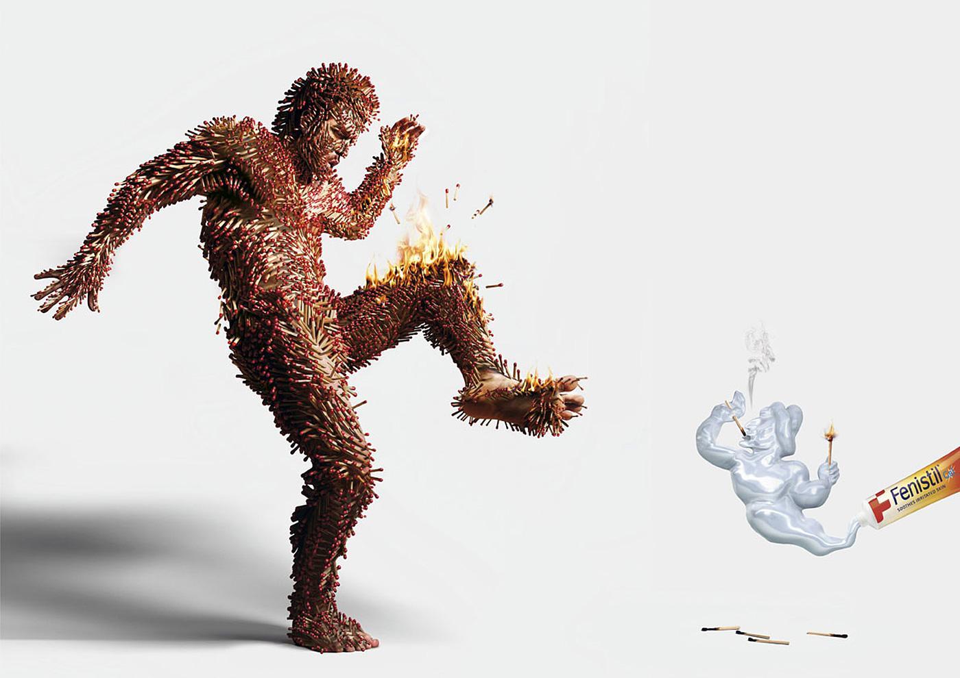 Fenistil Print Ad -  Burn
