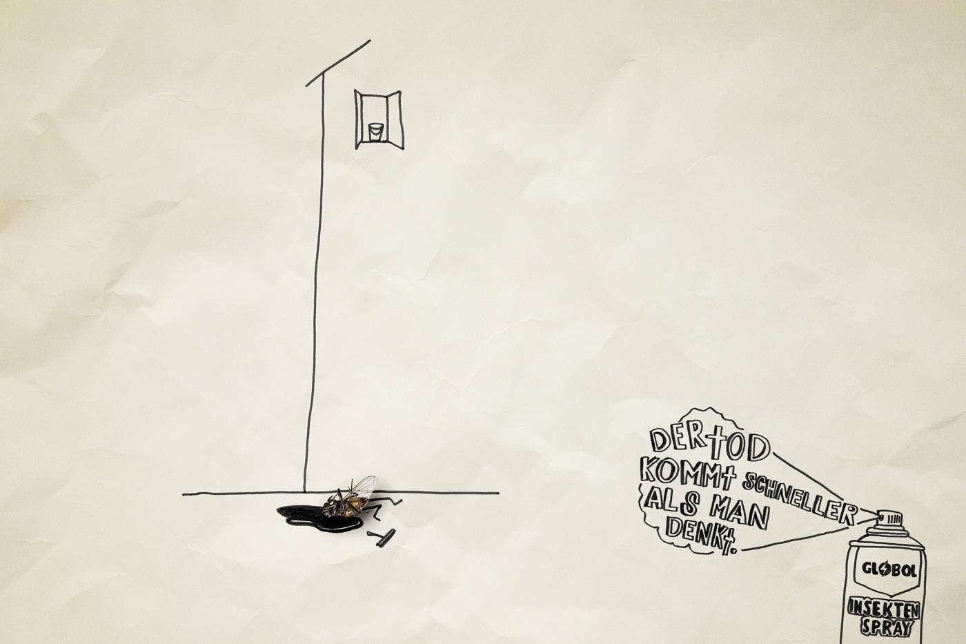 Globol Print Ad -  Dead flies, Window cleaner