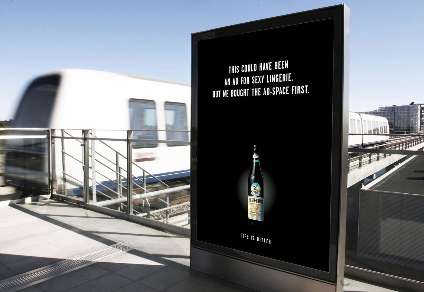 Fernet Branca Outdoor Ad -  Sexy Lingerie