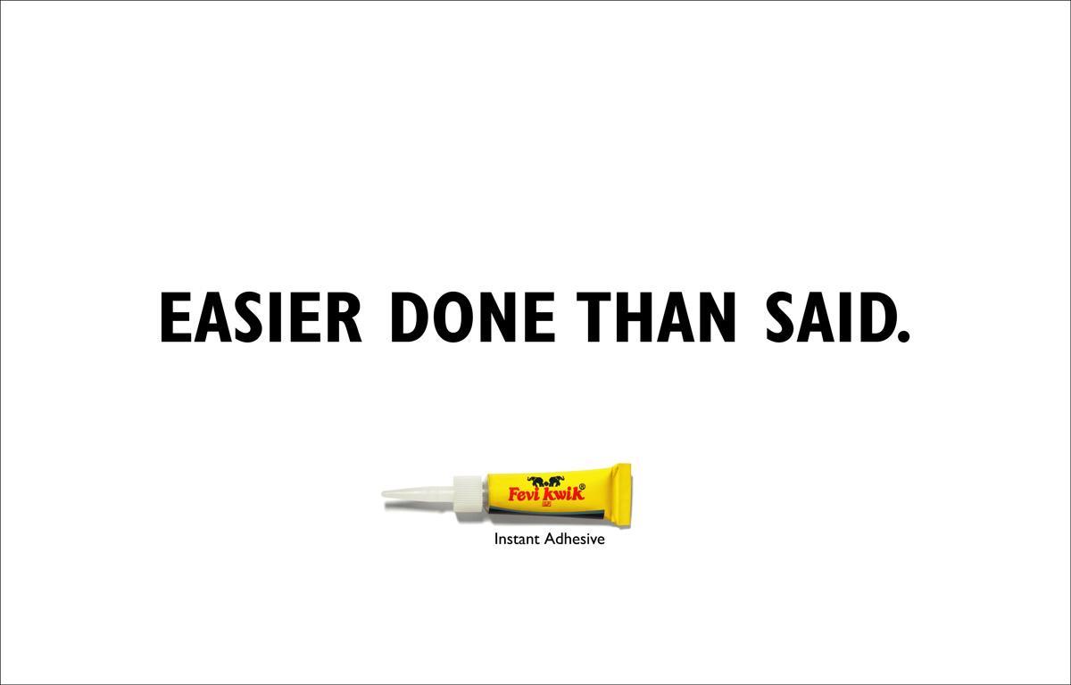 Fevi Kwik Print Ad -  Easier