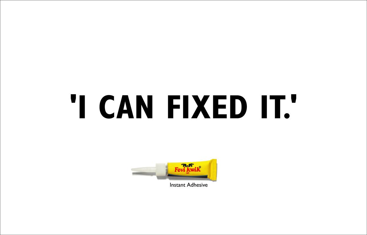 Fevi Kwik Print Ad -  Fixed