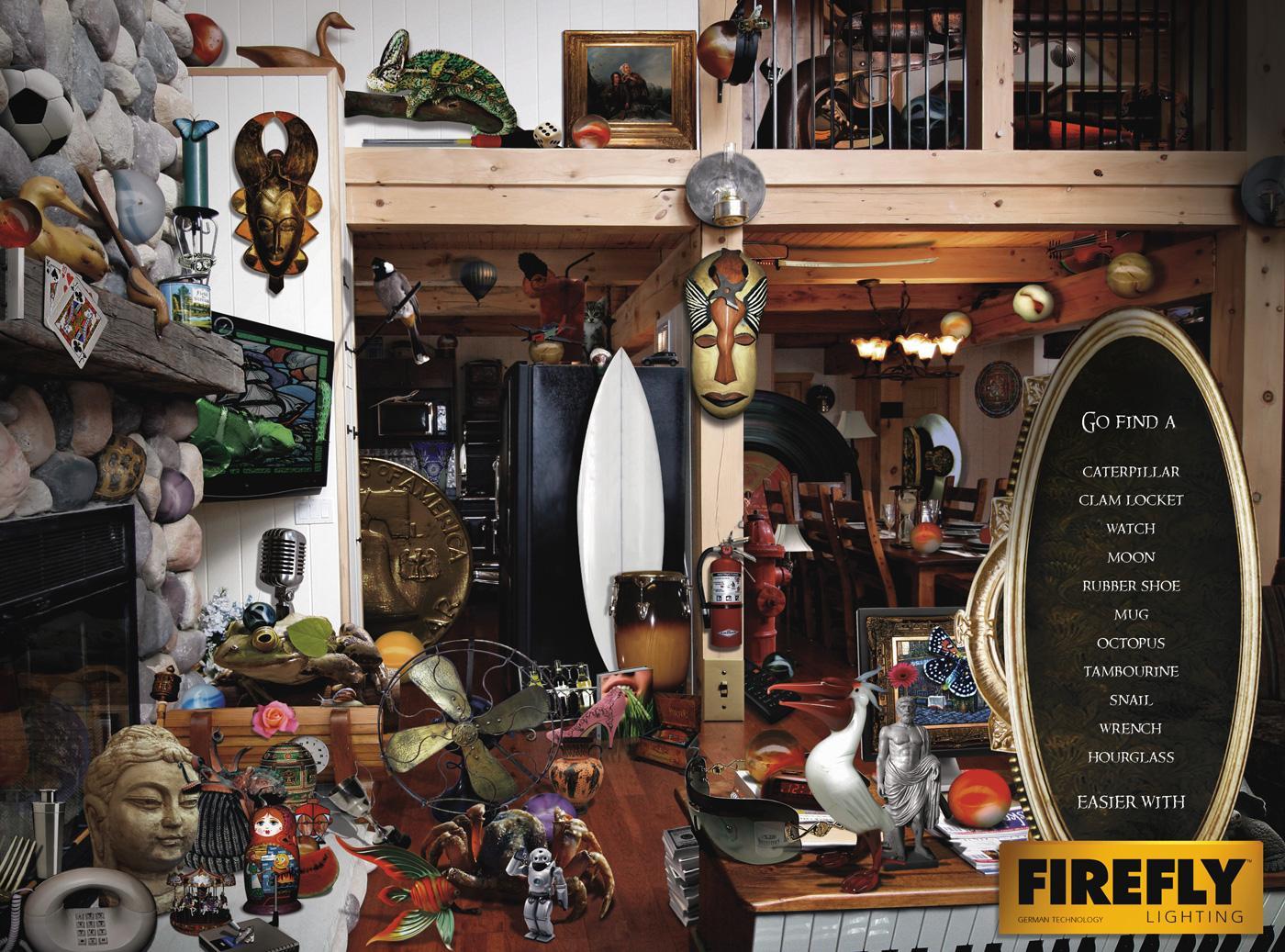 Firefly Print Ad -  Living room