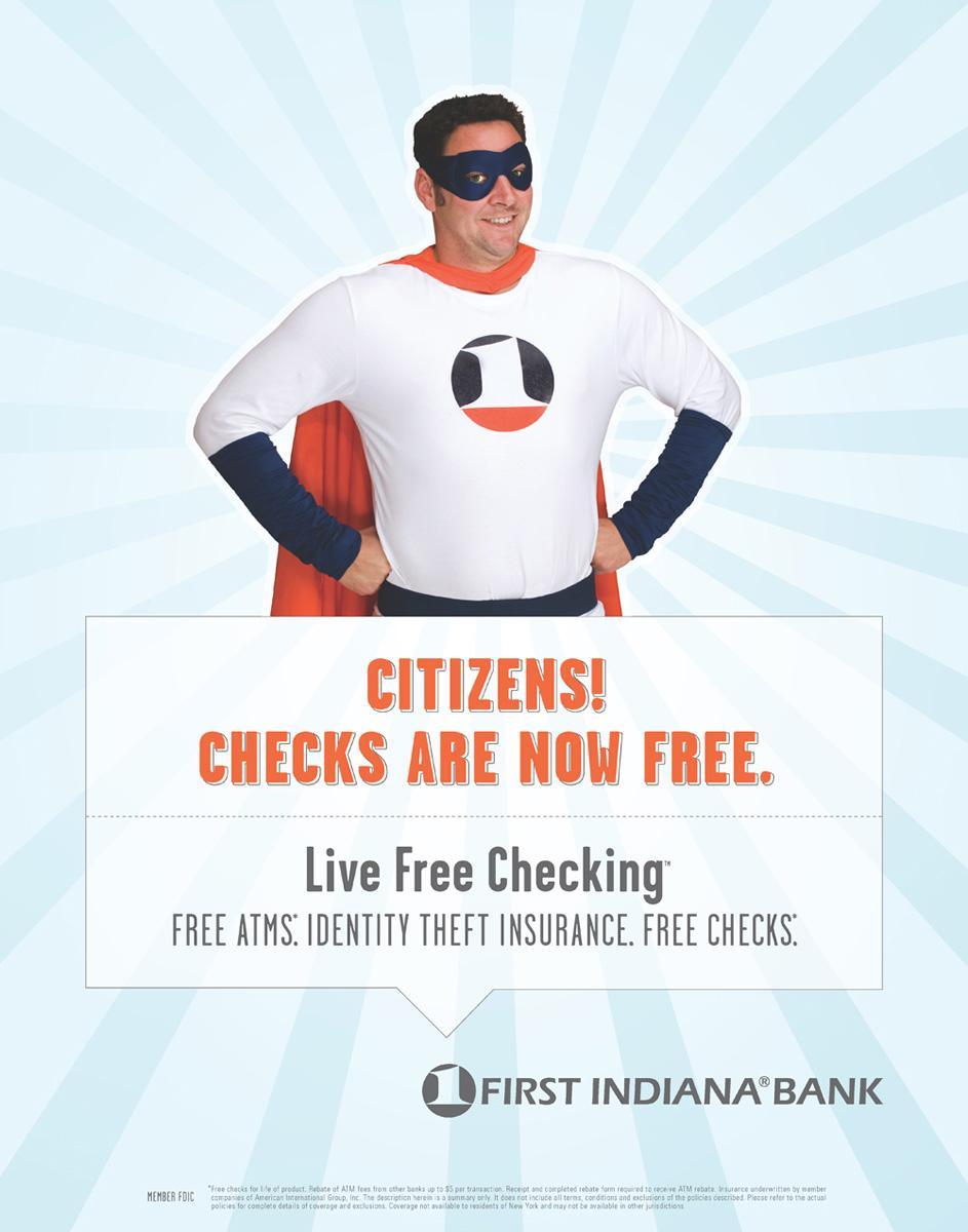 First Indiana Bank Print Ad -  Citizens
