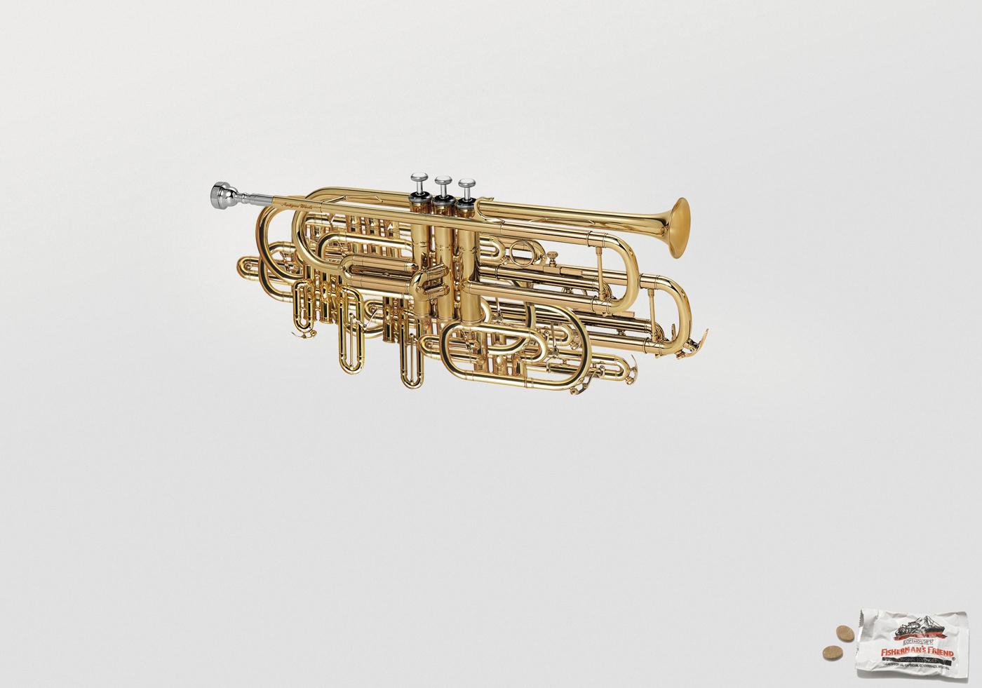Fisherman's Friend Print Ad -  Trumpet