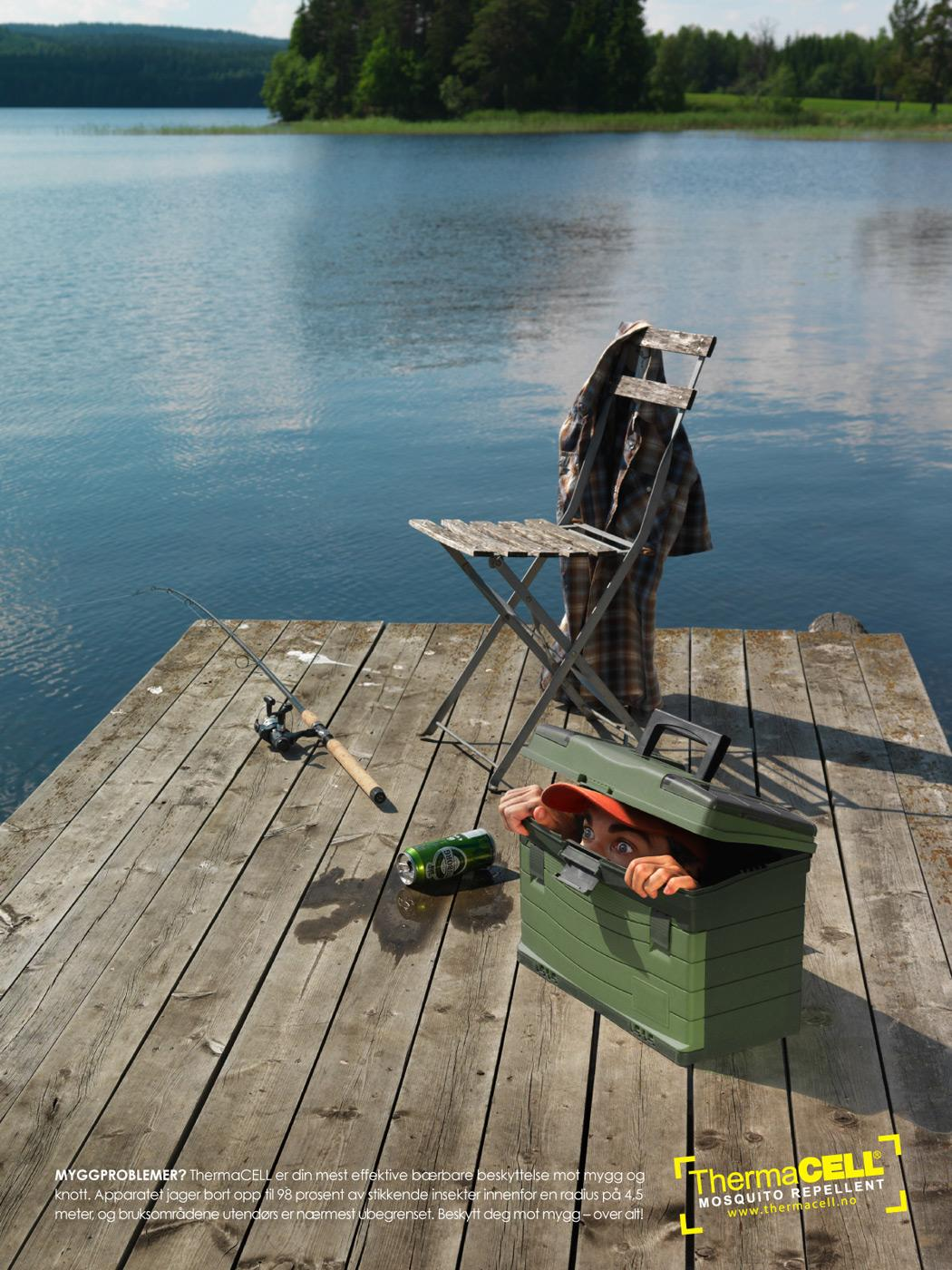 ThermaCELL Print Ad -  Fishing