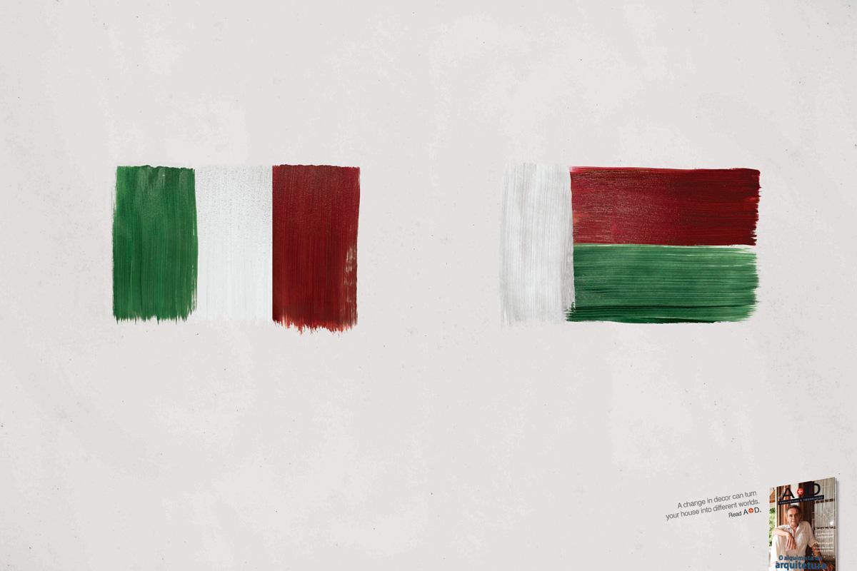 A+D Print Ad -  Flags, 2