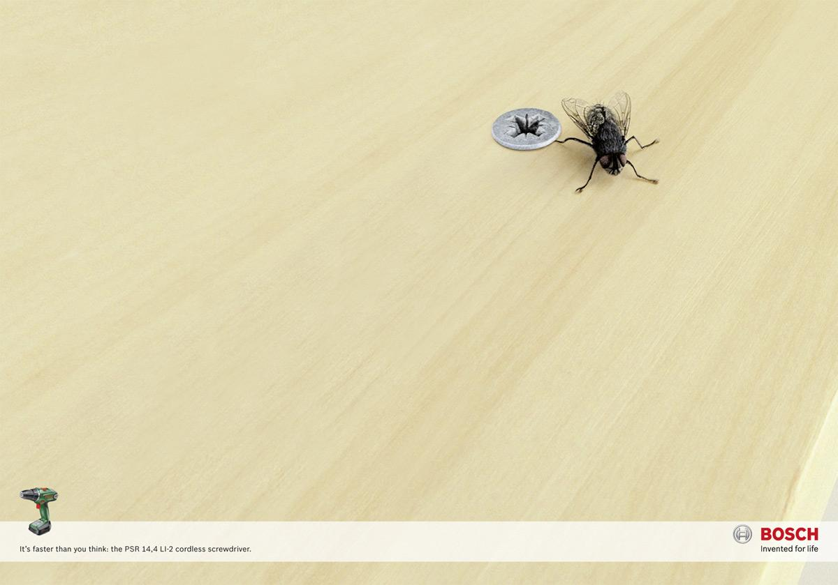Bosch Print Ad -  The fly