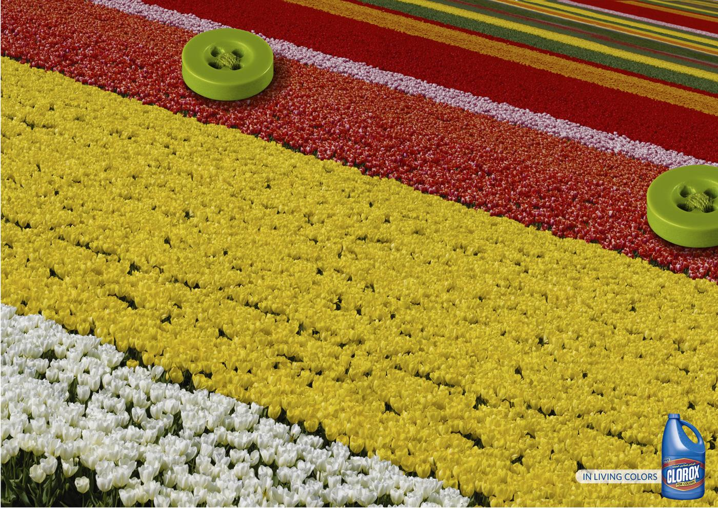 Clorox Print Ad -  Flower bed