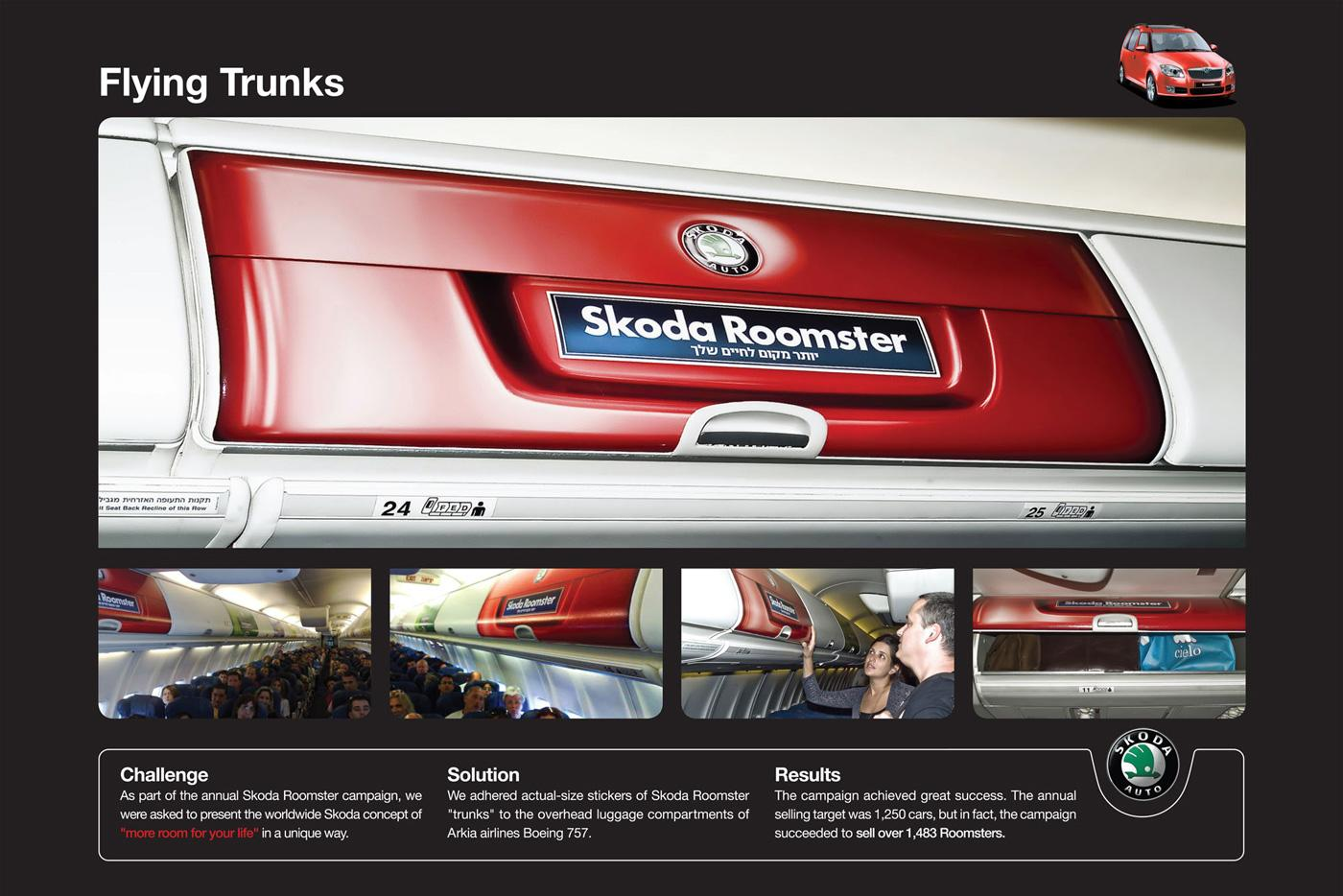 Skoda Ambient Ad - Flying Trunks