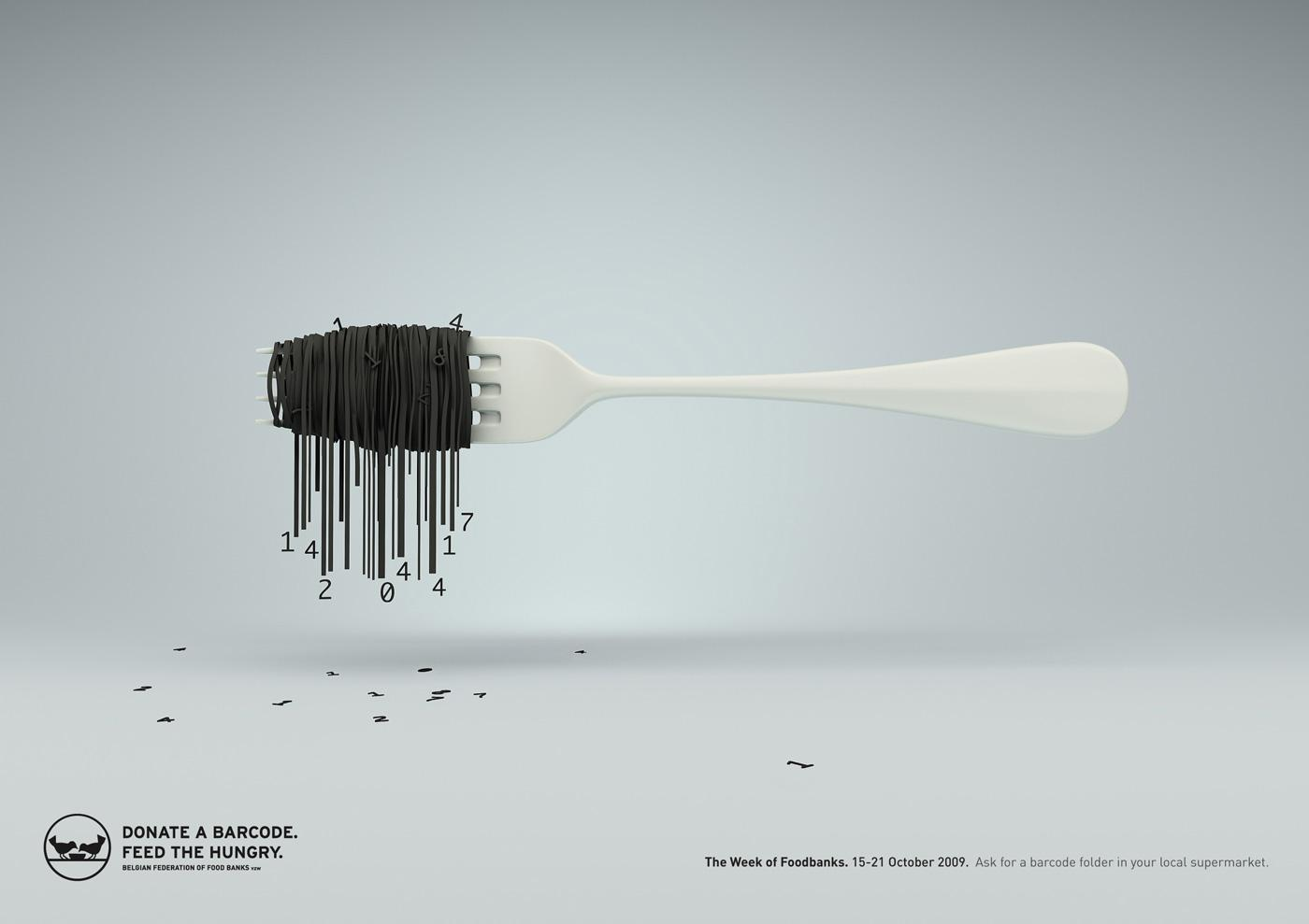 Food Banks Print Ad -  Pasta