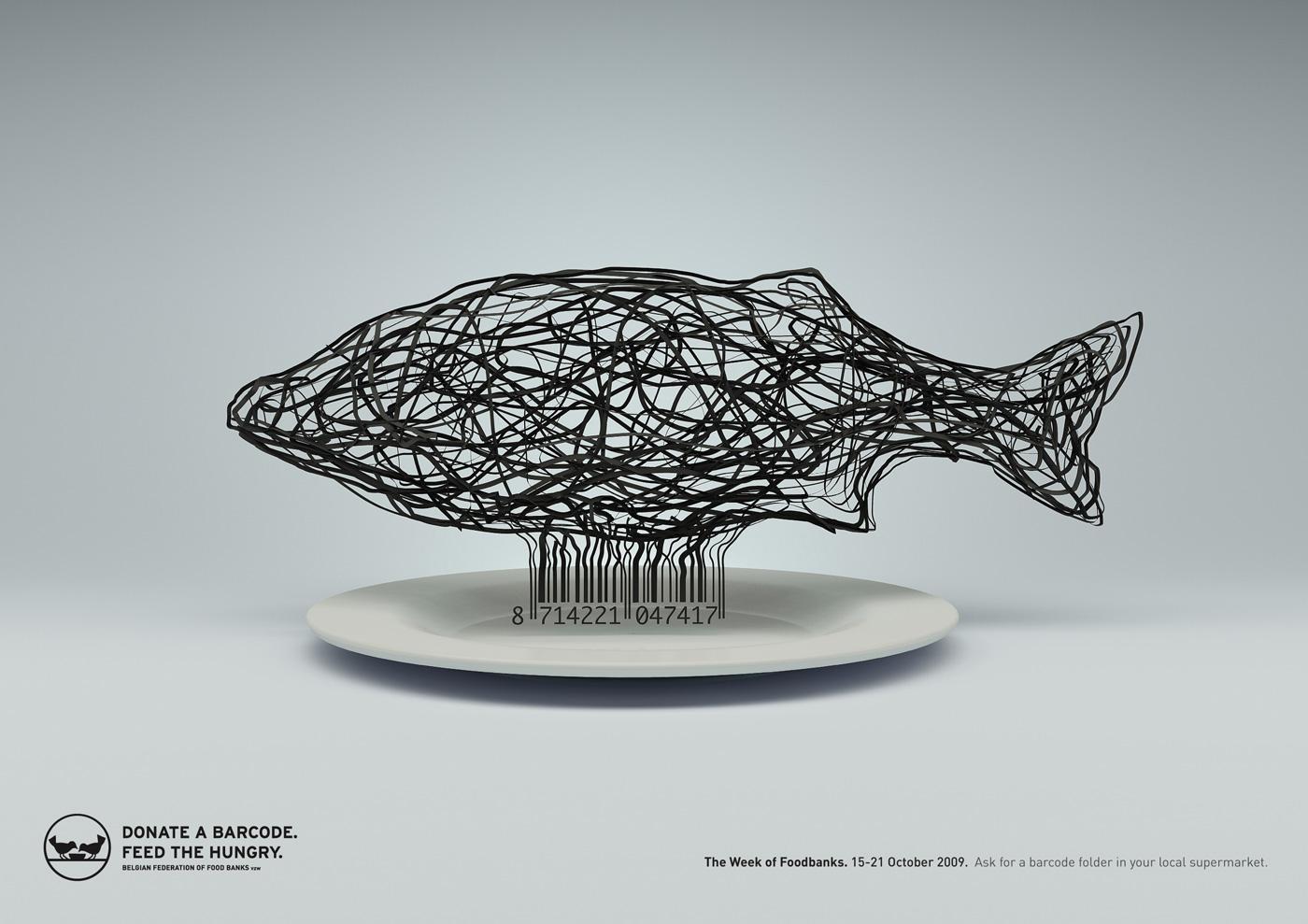 Food Banks Print Ad -  Fish