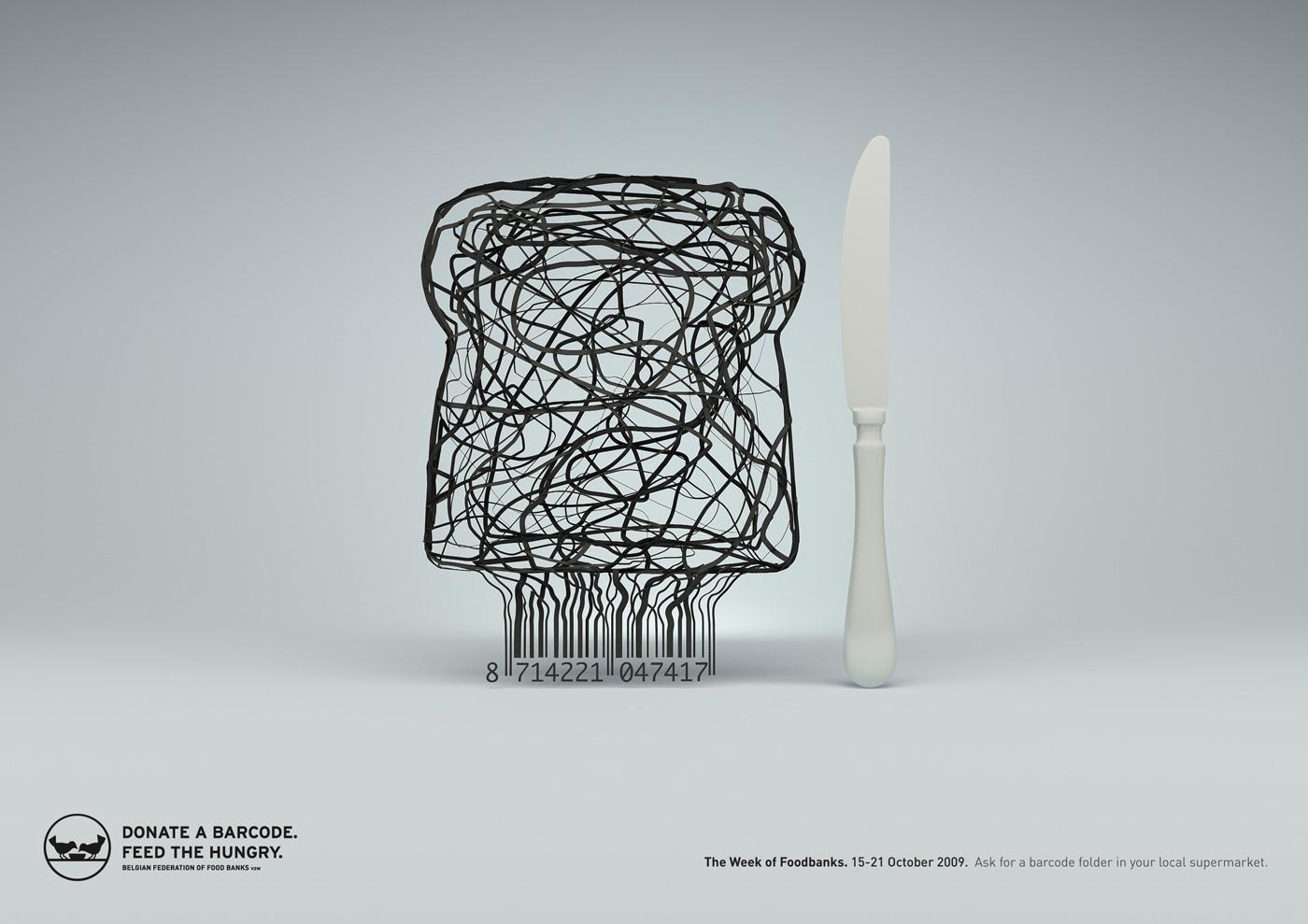 Food Banks Print Ad -  Bread