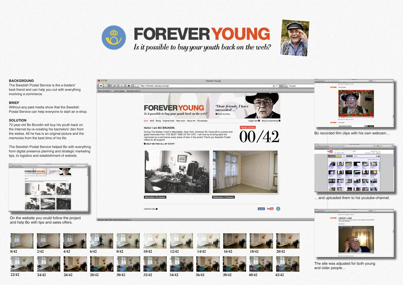 Swedish Postal Service Ambient Ad -  Forever young