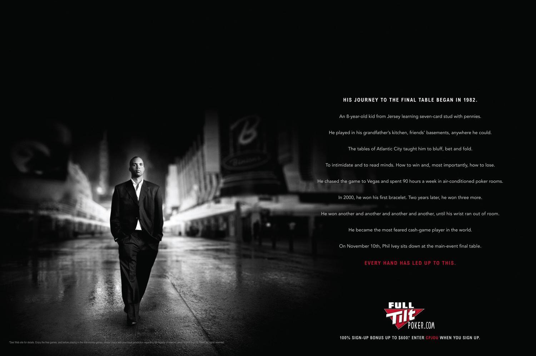 Full Tilt Poker Print Ad -  Journey