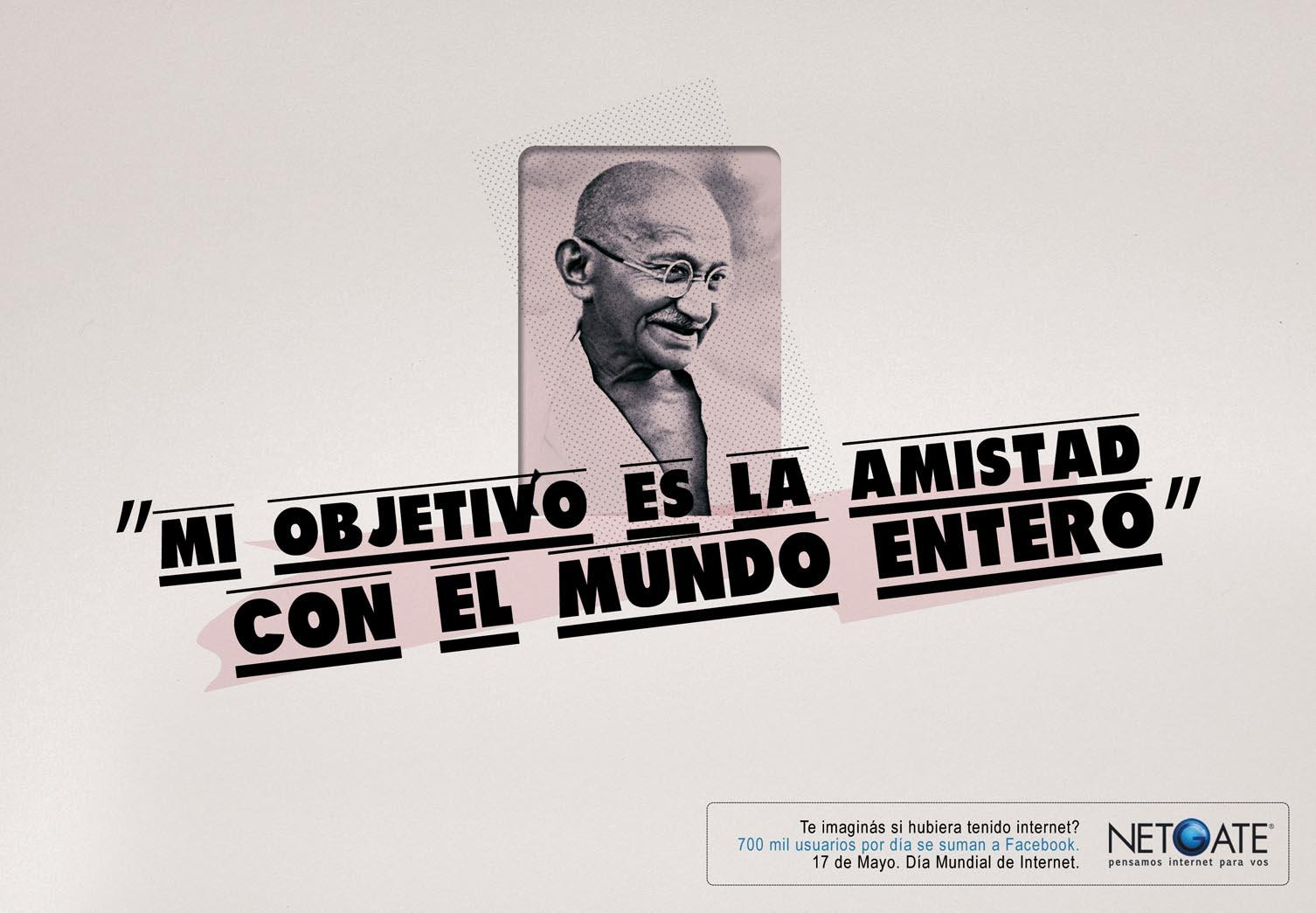 Netgate Print Ad -  Gandhi