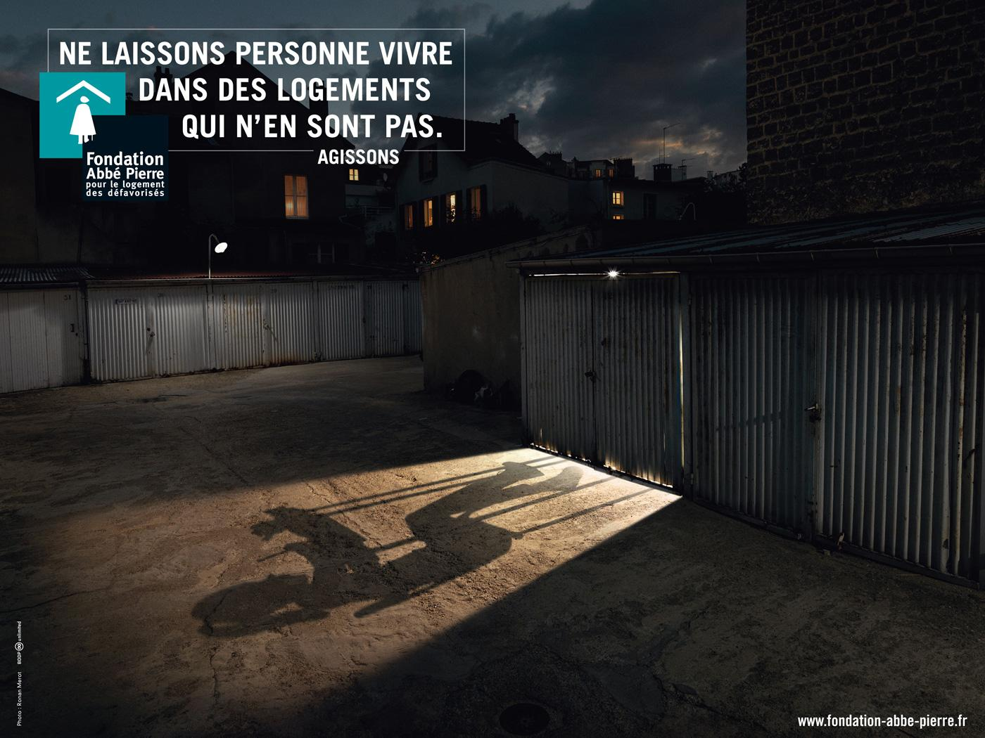 Fondation Abbé Pierre Print Ad -  Garage