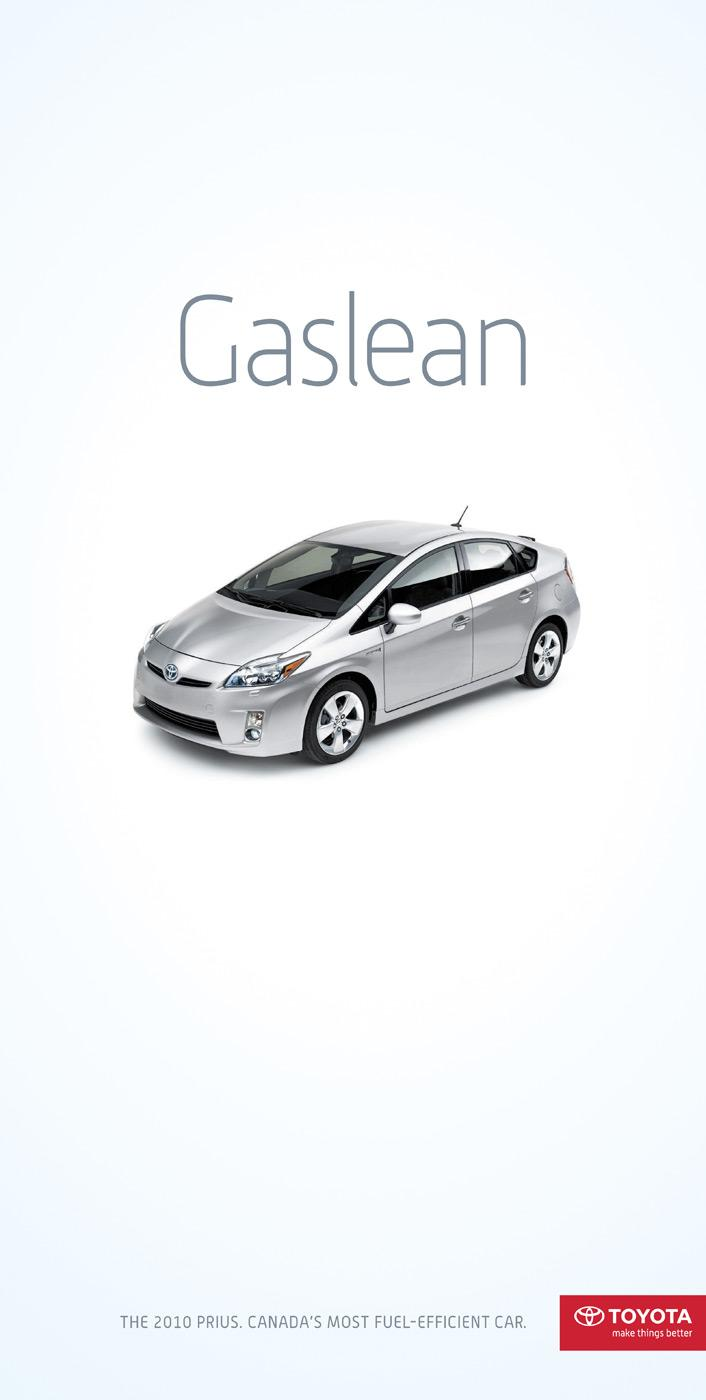 Toyota Print Ad -  Fuel Efficiency