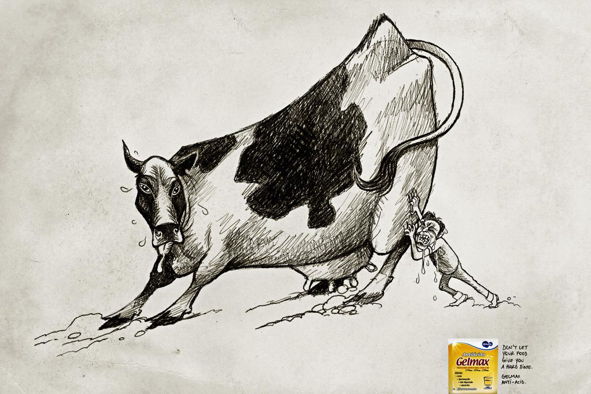 Gelmax Print Ad -  Cow