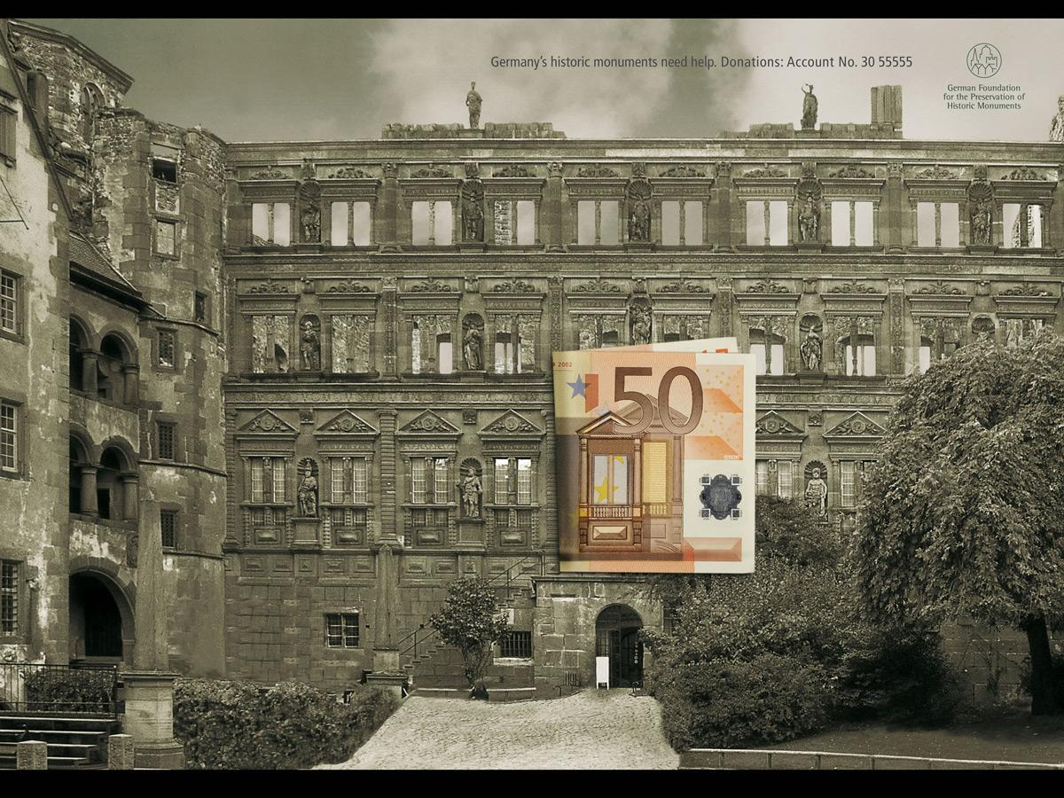 German Foundation for Monument Protection Print Ad -  Bank note, 2