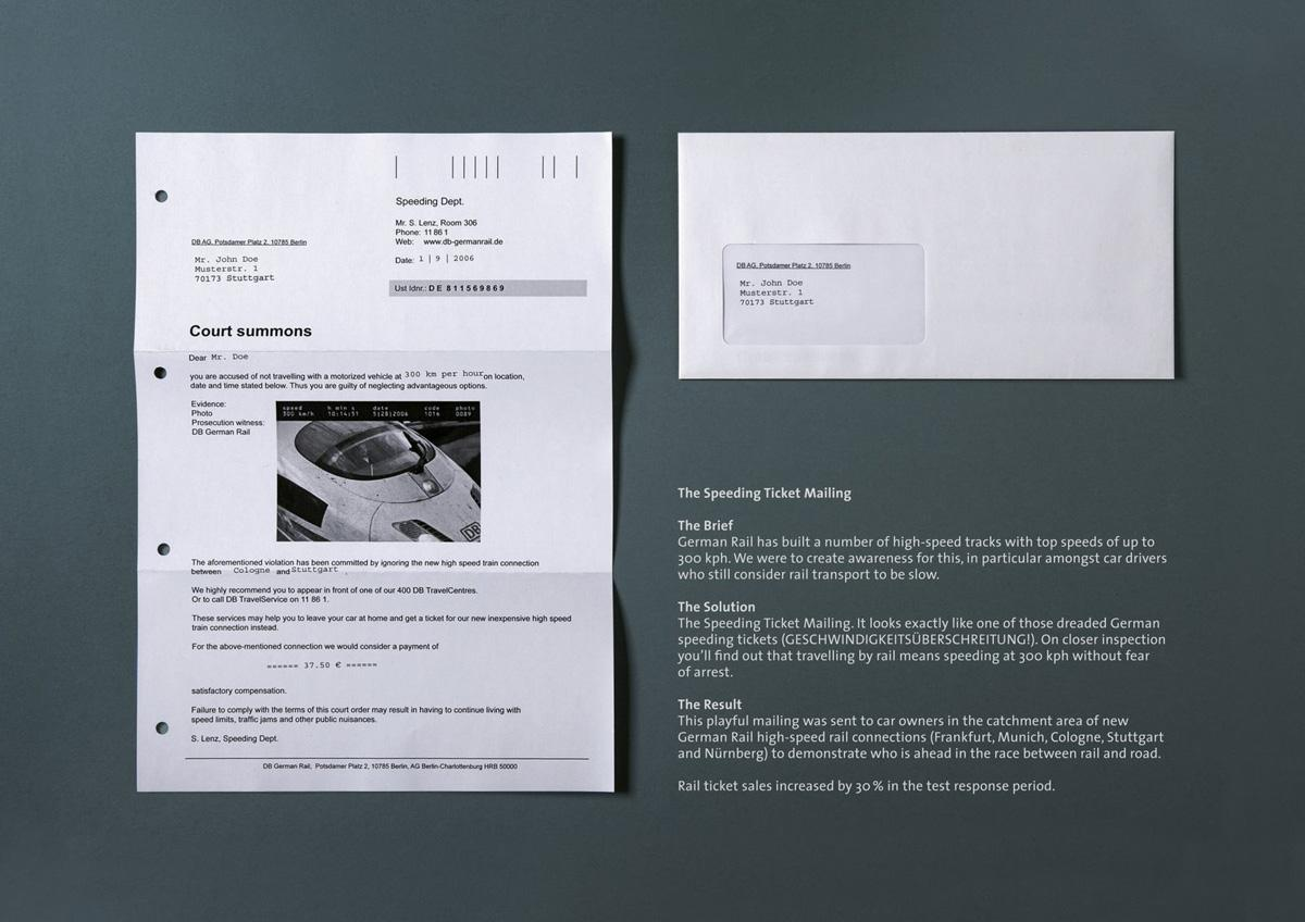 German rail Ambient Ad -  Court summons