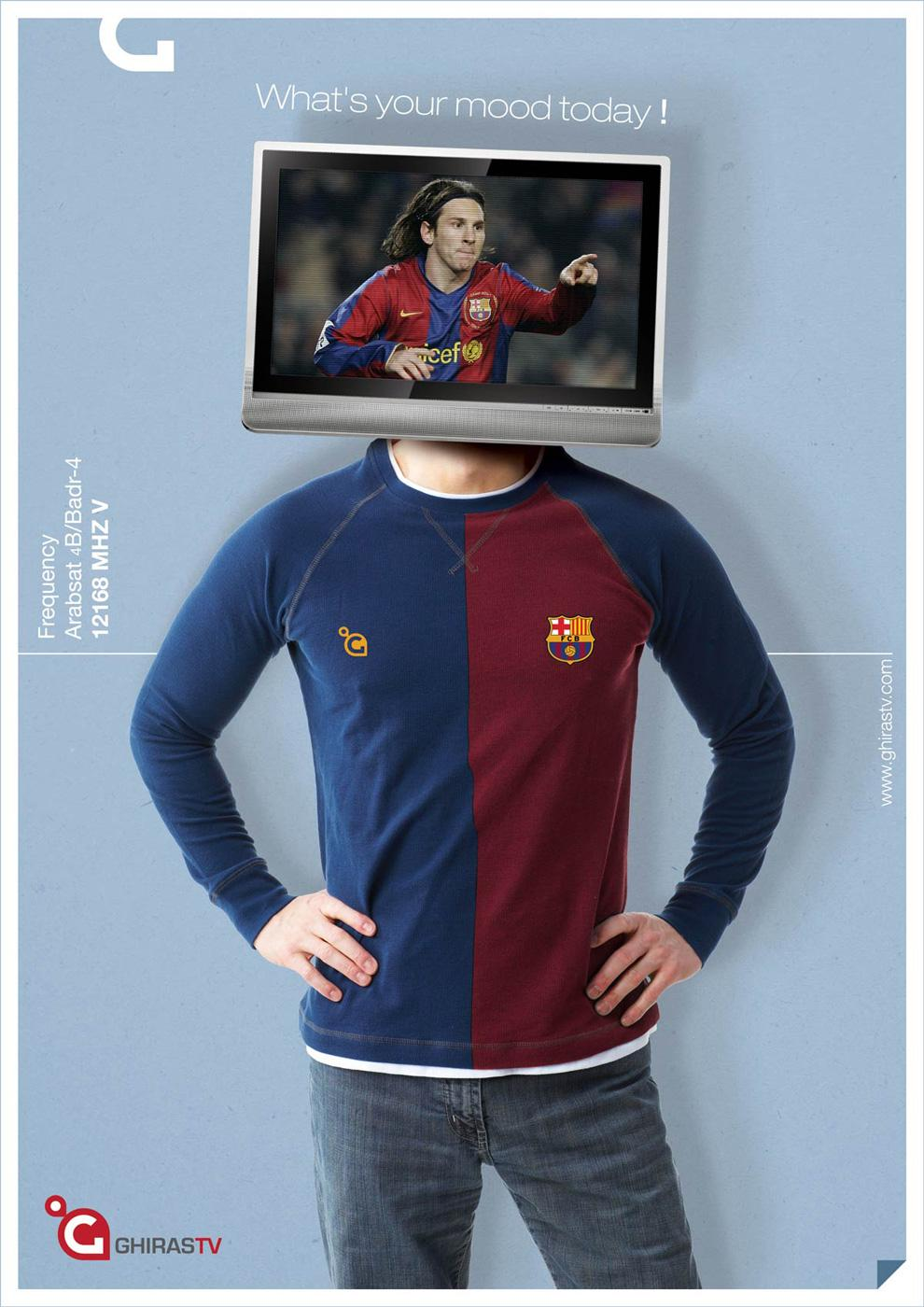 Ghiras TV Print Ad -  Barcelona