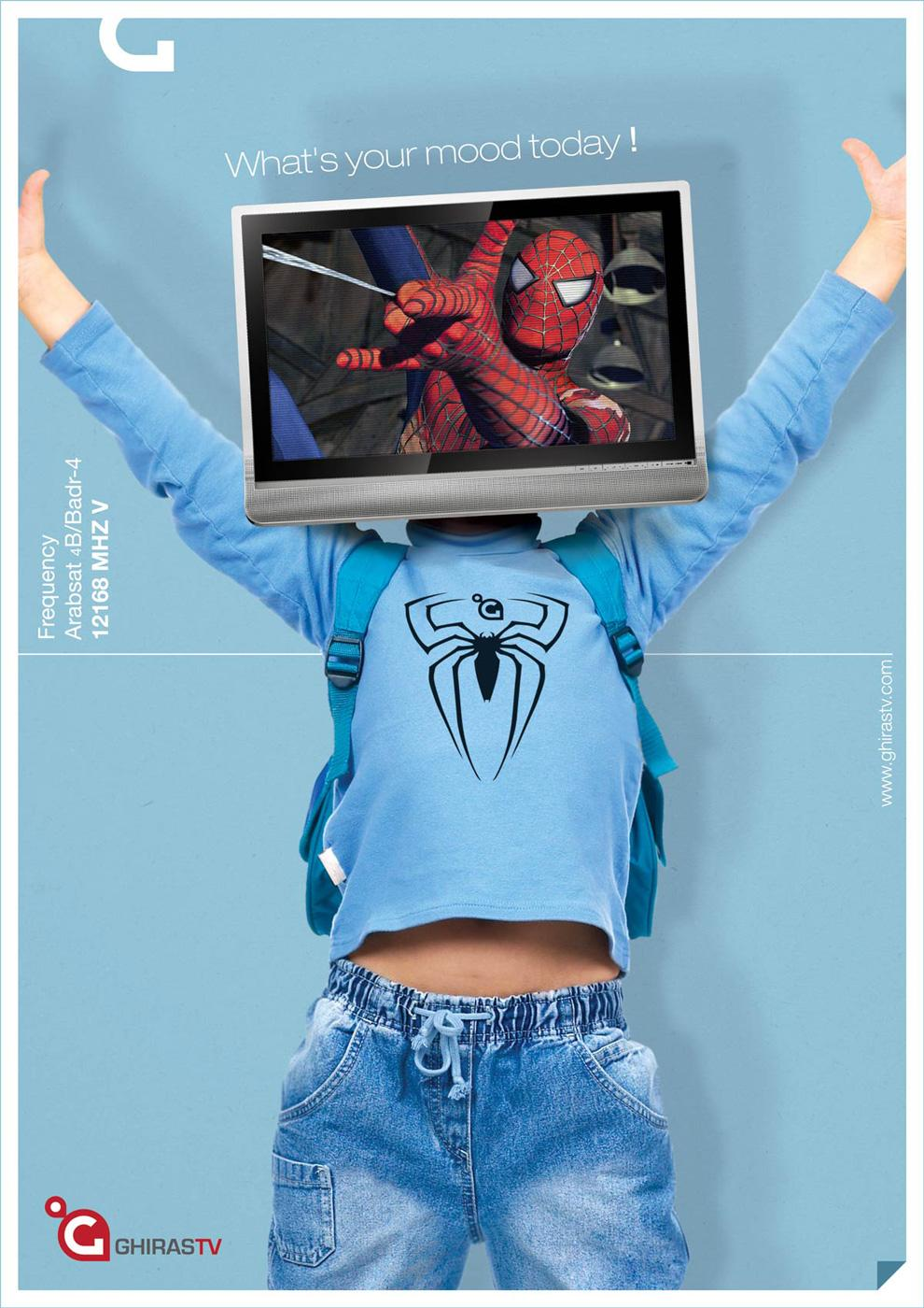 Ghiras TV Print Ad -  Spiderman