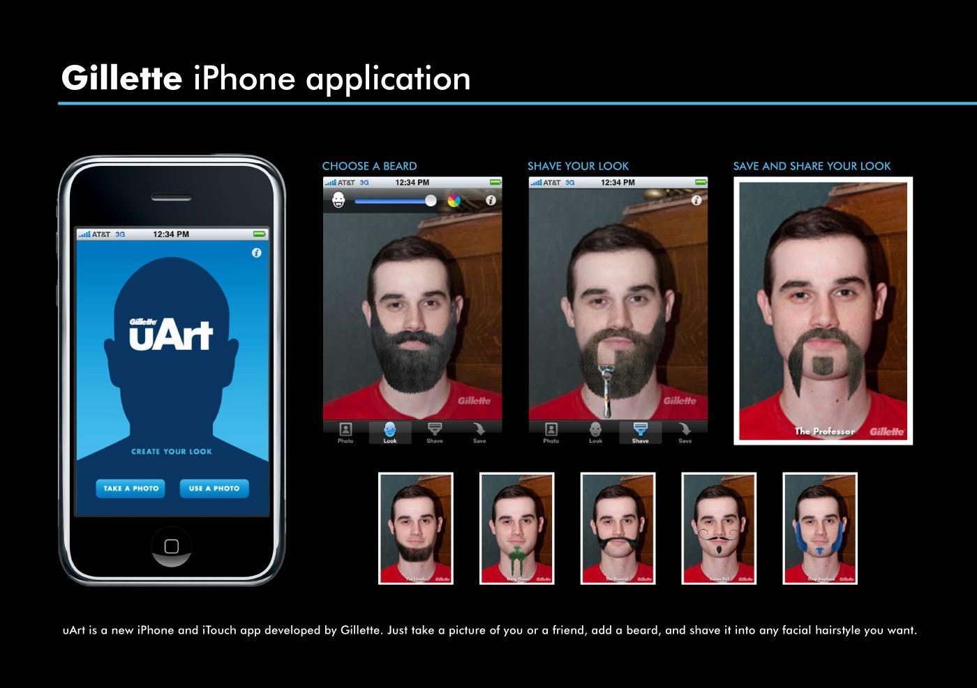 Gillette Digital Ad -  uArt iPhone application