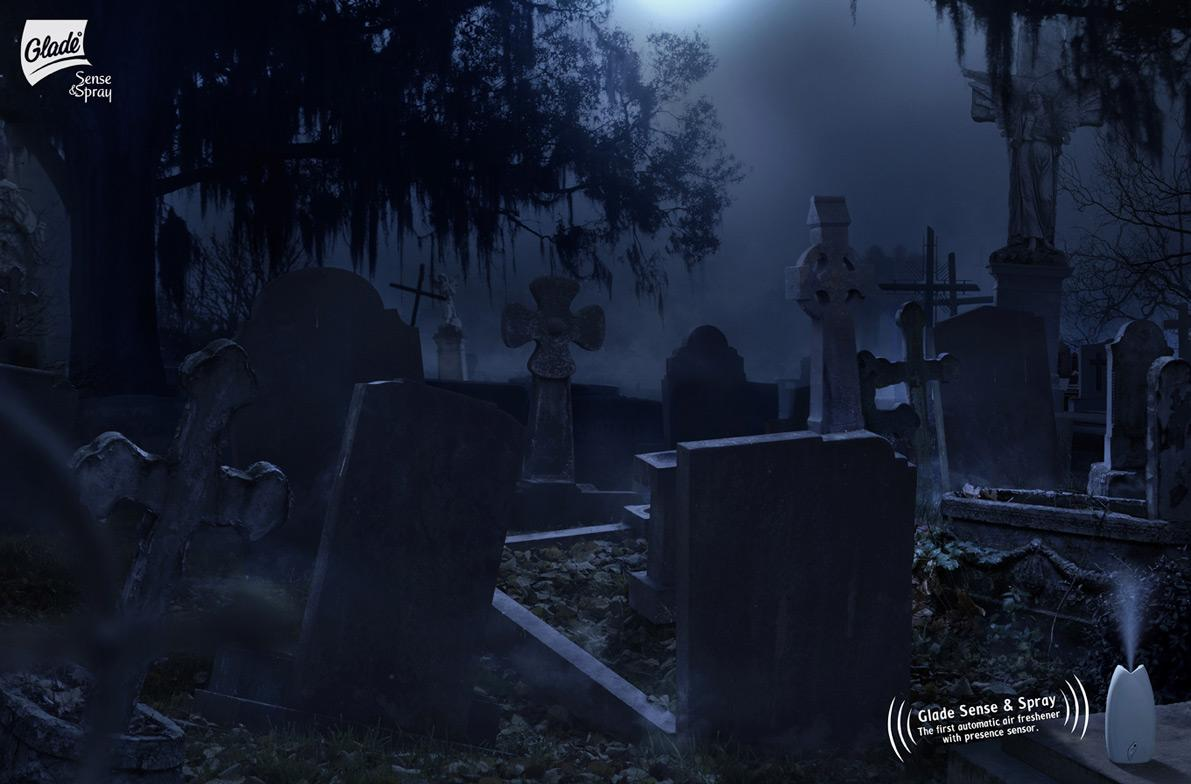 Glade Print Ad -  Cemetery