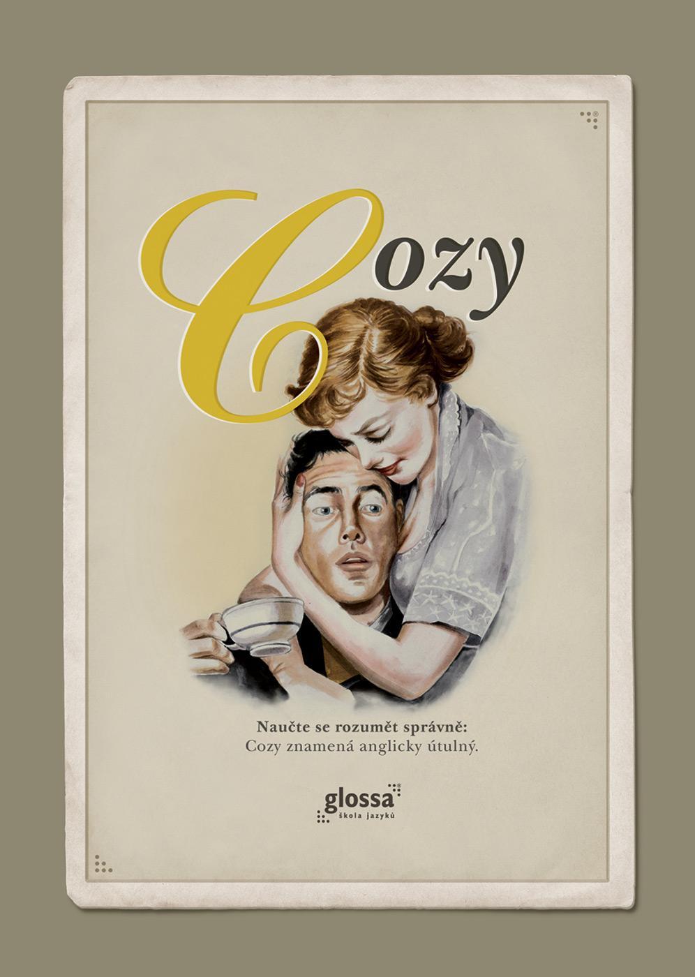 Glossa Print Ad -  Cozy