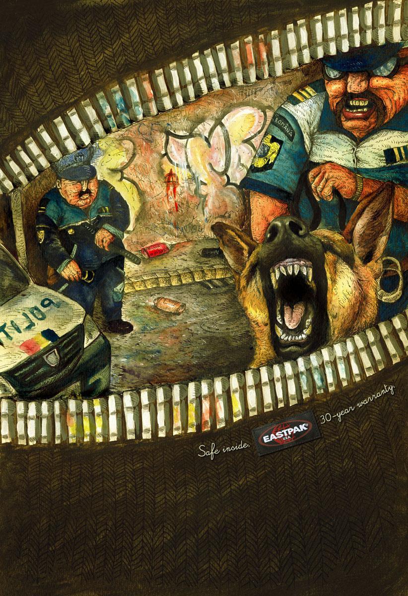 Eastpak Print Ad -  Graffiti