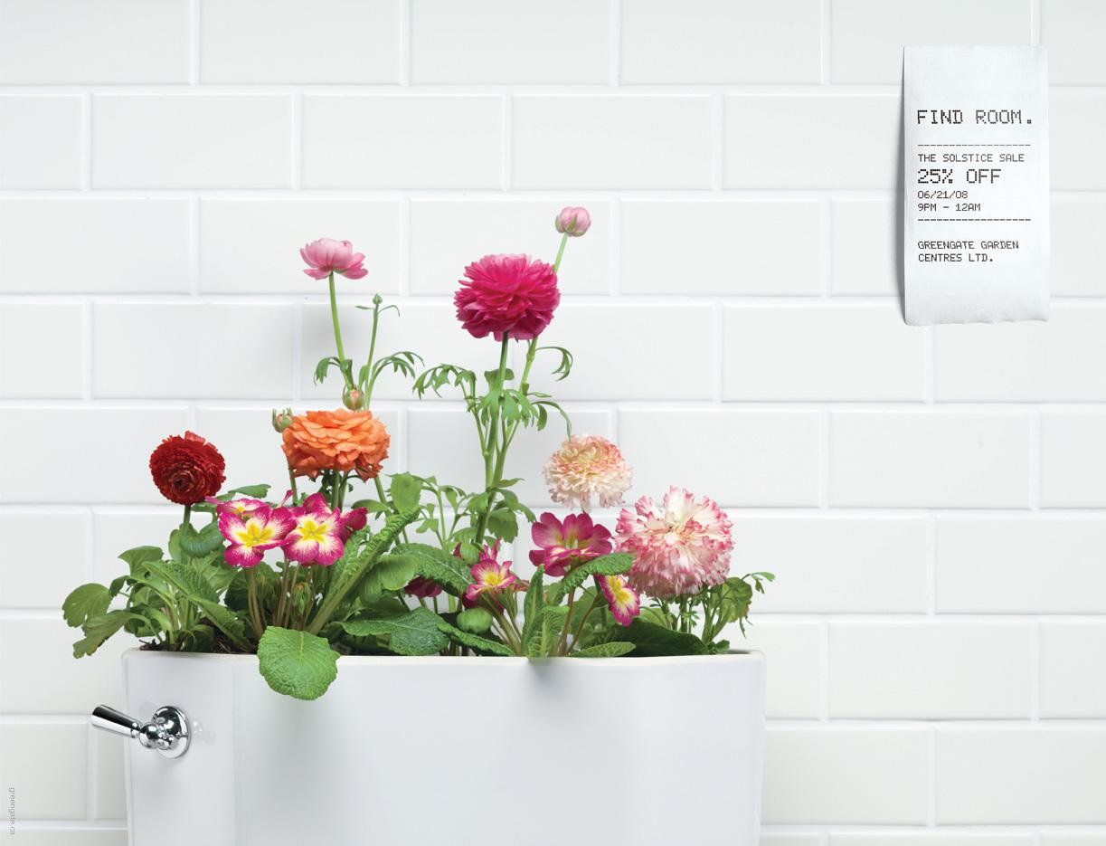 Greengate Garden Centres Print Ad -  Toilet