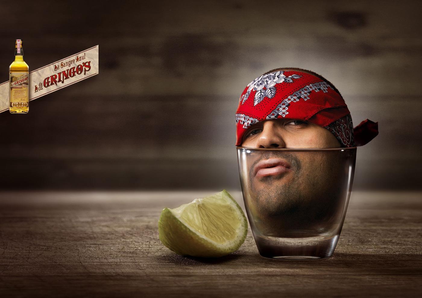 Gringo's Tequila Print Ad -  La Azteca de Miel