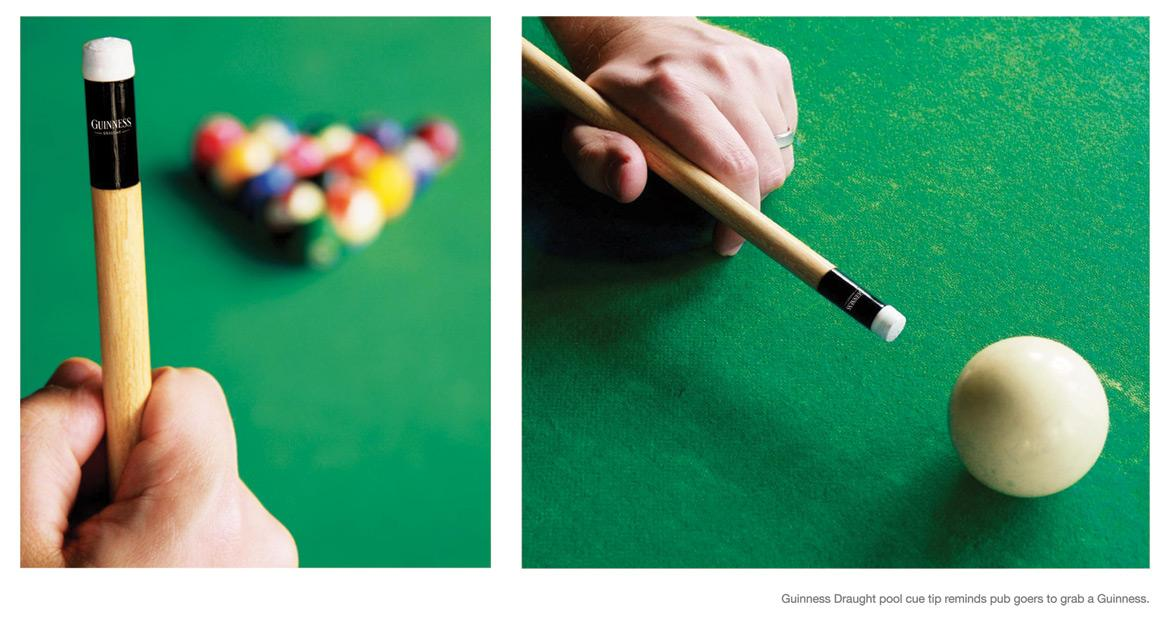 Guinness Ambient Ad -  Pool cue