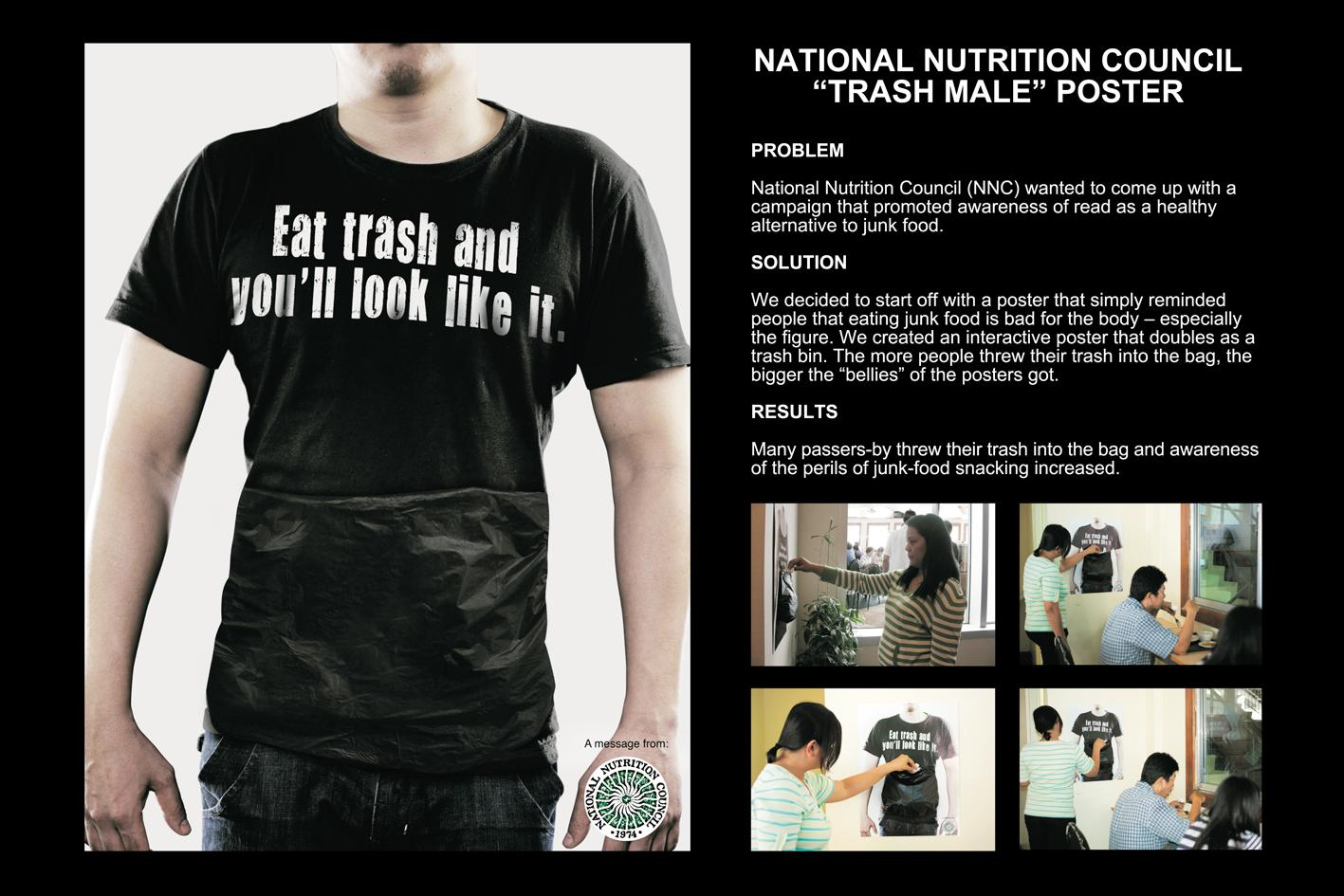 National Nutrition Council Ambient Ad -  Trash man